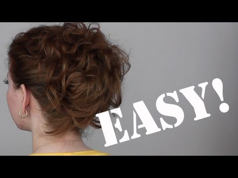 Hair Tutorial: A Quick, Easy and Messy Updo for Curly Hair