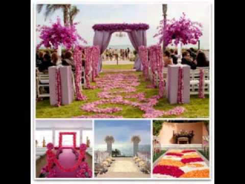 Easy DIY wedding aisle decorations