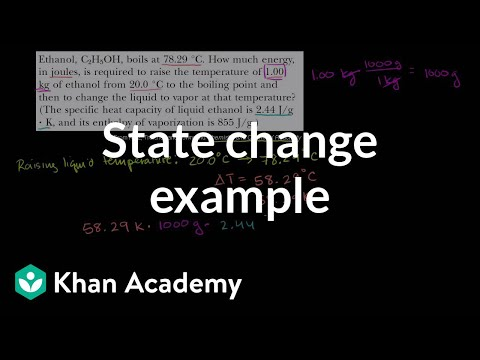 Change of state example | States of matter and intermolecular forces | Chemistry | Khan Academy