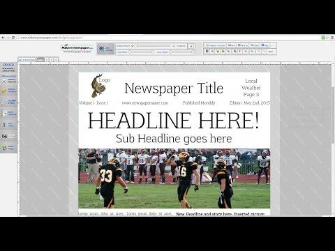 How to Make a Newspaper