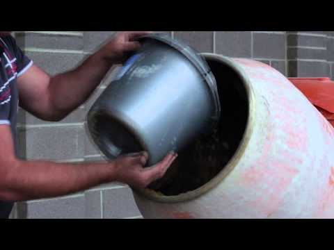 Cement mortar mix. Basic trade skills