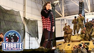 """Morgan Wallen performs their hit song """"Up Down"""": WWE Tribute to the Troops, Dec. 20, 2018"""