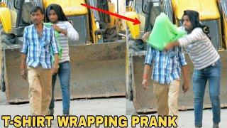 T-SHIRT WRAPPING PEOPLE PRANK || PRANK IN INDIA || MOUZ PRANK