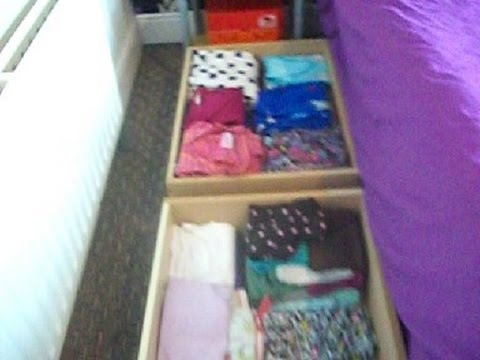 Under bed storage drawers [ how to make ]