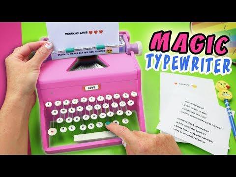MAGIC TYPEWRITER MACHINE - WRITER WITH MAGIC - DIY GIFT ❤️ | aPasos Crafts DIY