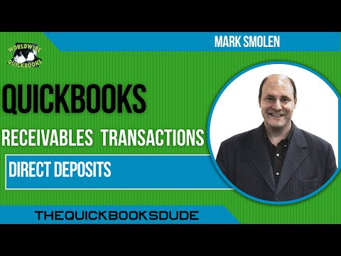 Learn QuickBooks Video 29 - Direct Deposits From Customers