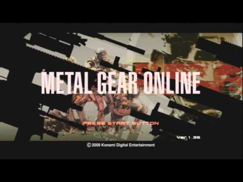 Metal Gear Online (Main Menu/Screen) 720p HD