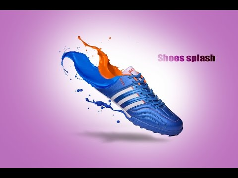 Making splash effects on the shoes