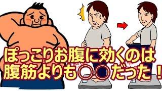 ぽっこりお腹を解消したいなら、腹筋を繰り返すべし――。 この考えは確かに間違いではありませんが、もっと効果的と されているトレーニングがあります。 それはスクワット。 スクワットは、お腹、お尻、背中などの大きなコアの筋肉を 鍛えられる効果的なトレーニング方法です。  DO YOU EVEN SQUAT BRO? https://www.youtube.com/watch?v=os2Jt_6Yc-c  The Most Effective Squat Challenge: 100 Rep Fitness Blender Squat Challenge https://www.youtube.com/watch?v=mGvzVjuY8SY  Do You Even Squat? https://www.youtube.com/watch?v=VoGM9r-CmHg