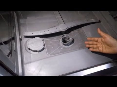 How to clean drain filter in BOSCH dishwasher (demo # 5)