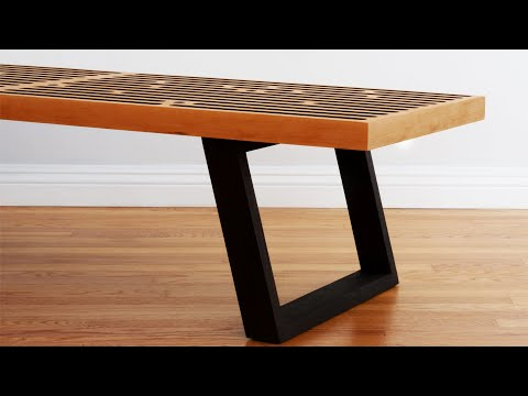 Build A Mid Century Modern Coffee Table / Nelson Bench - Woodworking