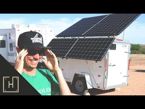 DIY Solar Generator With Tesla Batteries On A Trailer... Can It Be Done???