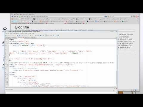 PHP & MySQL Tutorial 13: Posting on a Blog: Part 1
