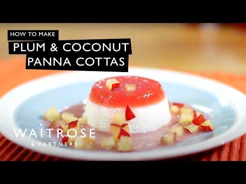 Plum and Coconut Panna Cottas | Waitrose
