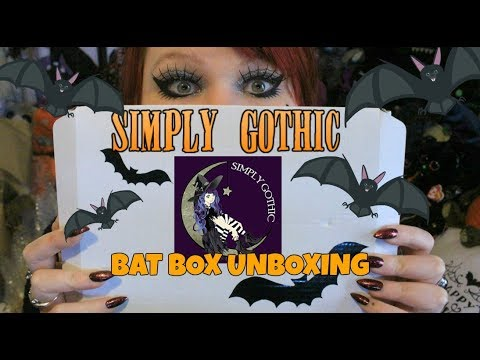 BAT BOX - Simply Gothic Jewellery Subscription Box Unboxing