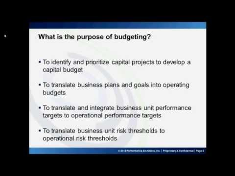 Budgeting and Forecasting Part 1