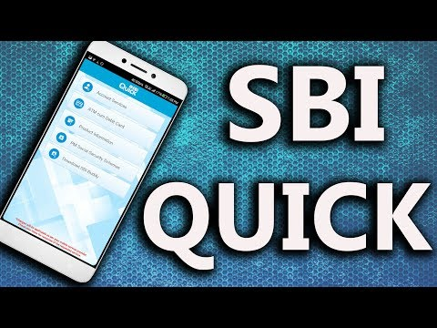 [Hindi] Using the SBI Quick Android application/Registration | 6 Month Statement | Balance Enquiry