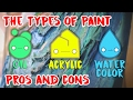 The Types of Paint Oil Acrylic Watercolor the Pros and Cons