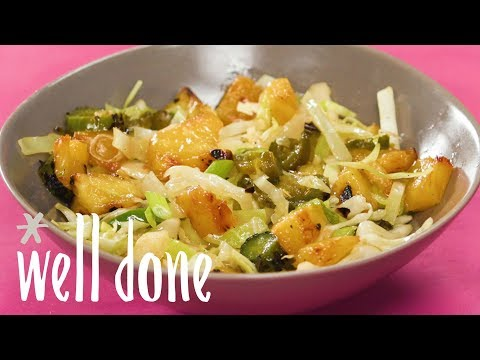 How To Make Pineapple Slaw | Recipe | Well Done