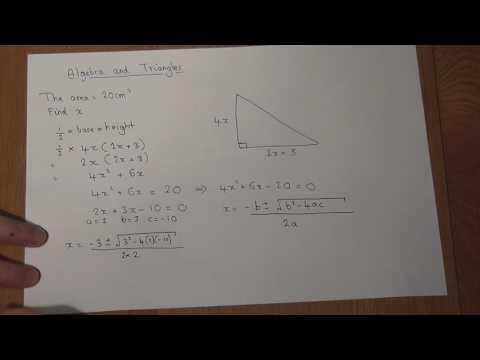 GCSE Maths Triangles and Quadratic Equations
