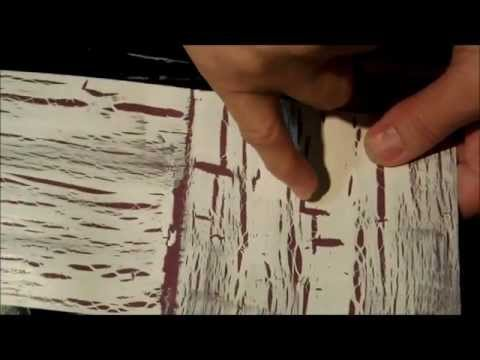 Crackle paint demo for card making