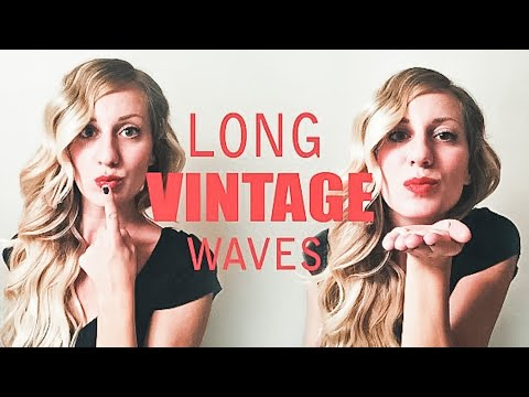Long Vintage Waves // Faux Finger Waves