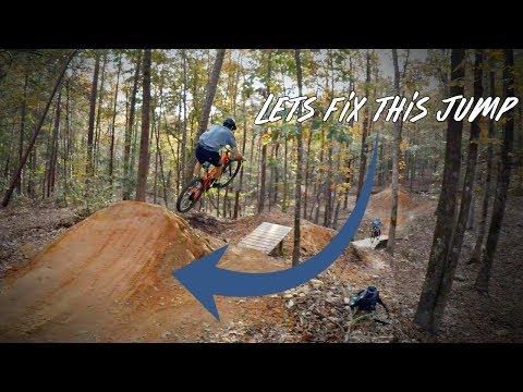 Dirt Jump Maintenance! MTB Trail Building  | Forbidden Zone, Chewacla State Park