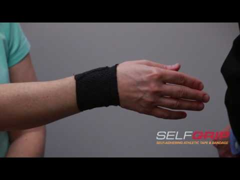 How to tape a sprained thumb using SelfGrip® - demonstrated by Dr Overland.