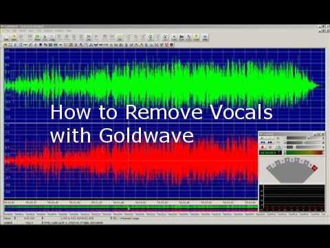 Remove vocals from music with Goldwave