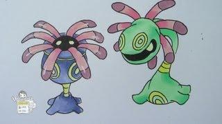 How To Draw Pokemon: No. 345 Lileep, No. 346 Cradily