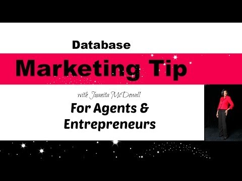 A Marketing Must - Database Tips for Agents and Entrepreneurs
