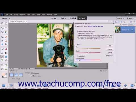 Photoshop Elements 2018 Tutorial Adjusting Skin Tone Adobe Training