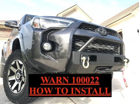 Warn Winch Bumper How To Install - Toyota 4Runner - S3.7