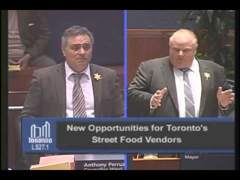 Rob Ford's motion on food trucks