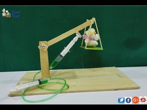 HYDRAULIC CRANE SCHOOL SCIENCE PROJECT
