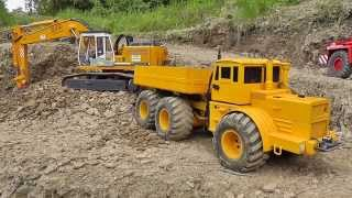 CONSTRUCTION SITE | RC WHEEL LOADER |  RC TIPPER l RC DUMPER AT THE MINE|