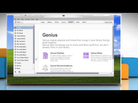 How to create playlist in iTunes® on Windows® XP PC