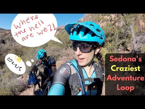 Sedona's Gnarliest Hike-a-Bike, and Coldest River Crossing, and Most Adventurous Loop