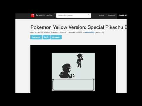 Pokemon Yellow Emulator, Special Pikachu Edition | Cat Games