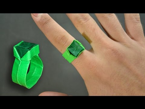 Origami: Ring with Diamond