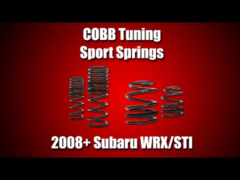 COBB Subaru Sport Springs Install Video