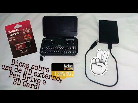 GPD Win dicas sobre HD externo , Pen drive e SD card