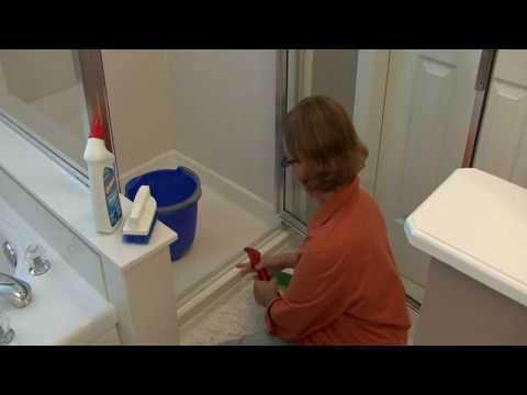 Bathroom Cleaning Tips : How to Clean Shower Door Tracks