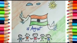 Republic Day Drawing Happy Republic Day Heart Drawing For Kids