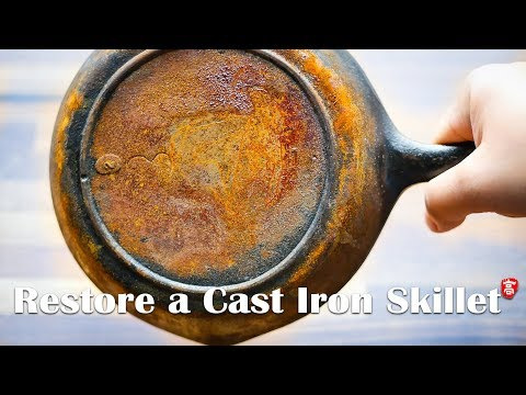 Restore a Rusty Cast Iron Skillet