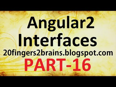 Angular 2 - Interfaces