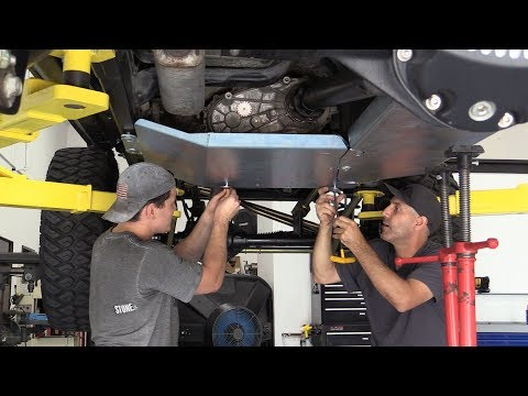 You're Gonna Want that Jeep Under Armor! MetalCloak Skid Plate System Install