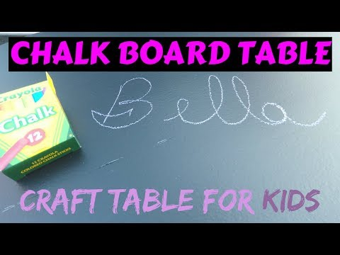 How to Make a Chalkboard Craft Table for Kids