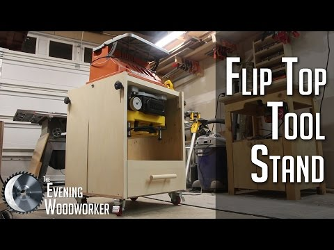 Mobile Flip Top Tool Stand