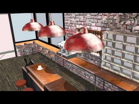 coffee-bar industrial SketchUp